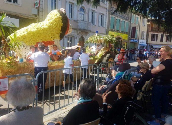 Les résidents de l'EHPAD Jeanne Penent assistent à la fête des fleurs grâce aux lycéens