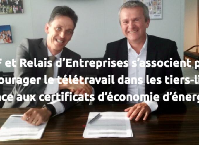 EDF et Relais d'Entreprises s'associent pour encourager le télétravail dans les « tiers-lieux » grâce aux certificats d'économie d'énergie
