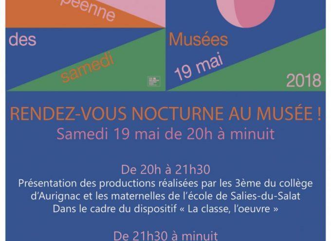 La nuit européenne des musées à Aurignac