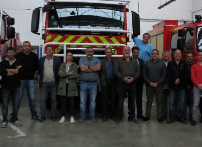Les sapeurs pompiers volontaires en réunion