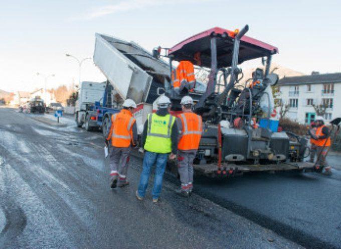 Travaux de rénovation sur la RD 19 dite route de Lamasquère