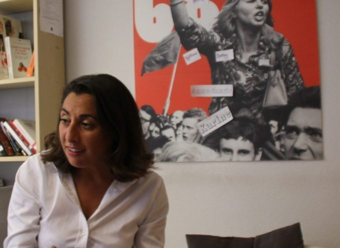Nadia BAKIRI dans un lieu symbolique de son action