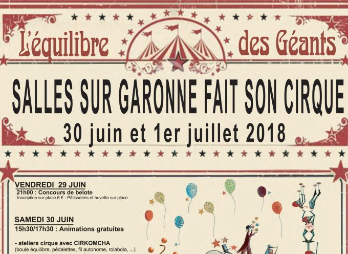 Salles sur Garonne fait son cirque