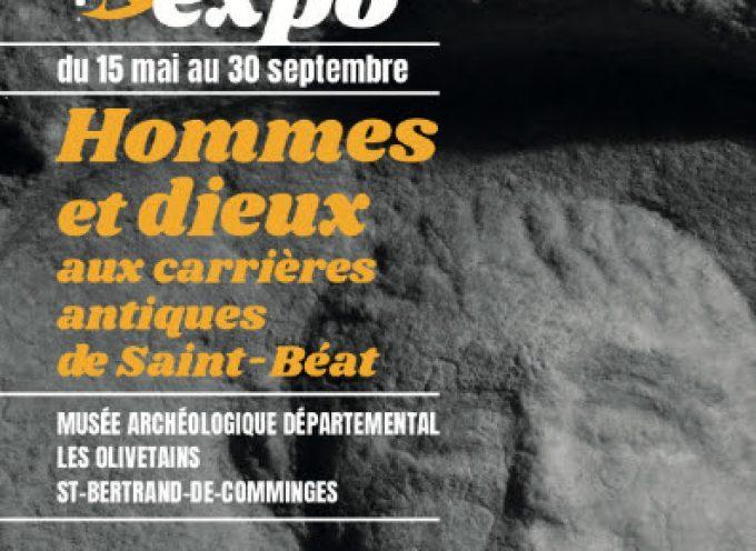 Exposition Hommes et dieux aux carrières antiques de Saint-Béat à Saint-Bertrand-de-Comminges