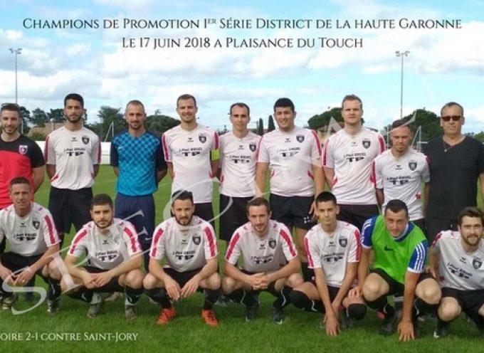 Les rouges et noirs champions du district de Haute-Garonne
