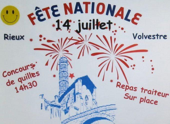 Le 14 juillet se fête à Rieux Volvestre
