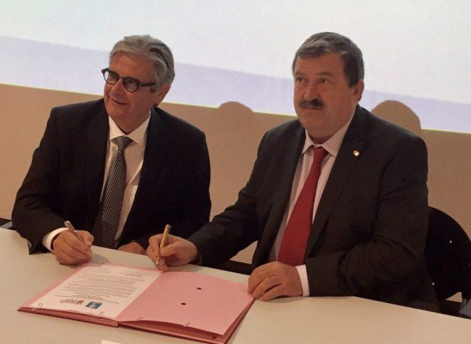 Georges Méric et Carlos Barrera ont lancé le projet transfrontalier Trans-Garona