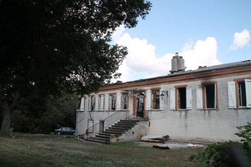 Le château de Bazert entièrement détruit