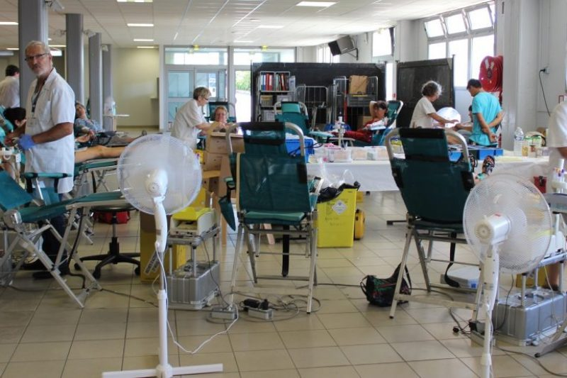 Prélèvement au don du sang