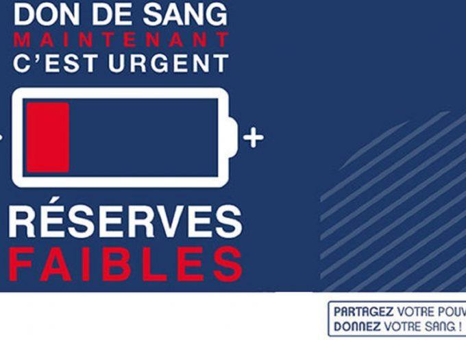 L'Etablissement Français du Sang lance un appel urgent