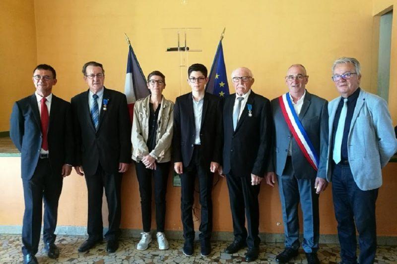 De gauche à droite: Joël Aviragnet, Guy Darmanin, Véronique, Kévin, Roger Toullec, Christian Sensebé et Christian Sans