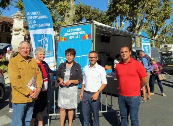Maryse Vézat-Baronia et Sébastien Vincini à la rencontre de leurs administrés