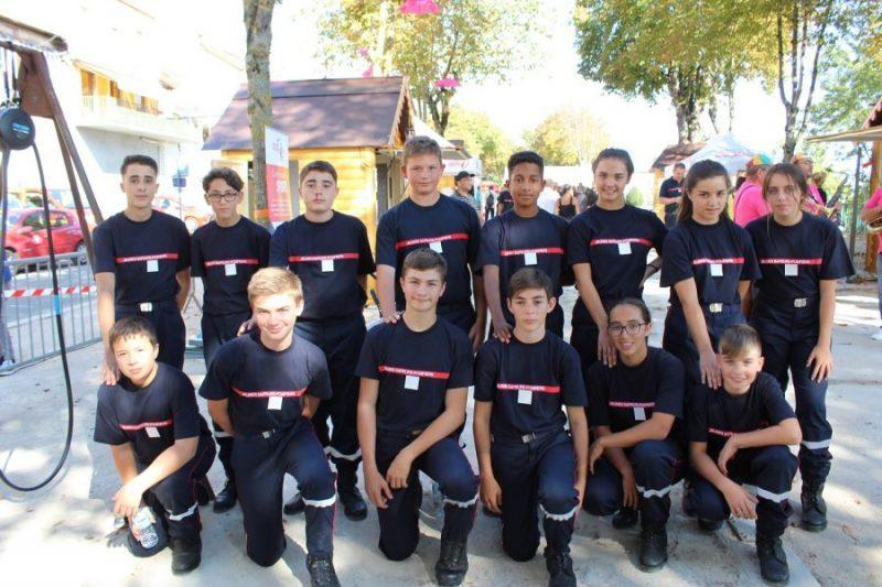 Les 14 jeunes recrues qui dans 3 ans pourront intégrer les pompiers volontaires