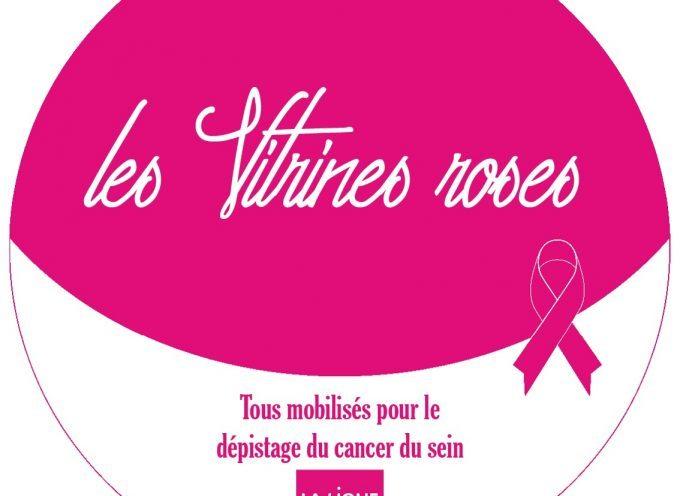 Cancer du sein : des vitrines roses pour encourager au dépistage