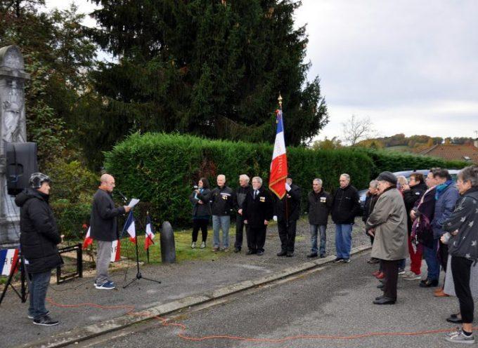 Cérémonie commémorative matinale à Saint-Plancard