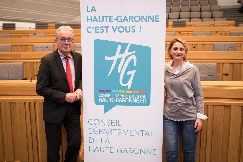 Christian Sans et Sandrine Baylac,conseillers départementaux du canton de Cazères