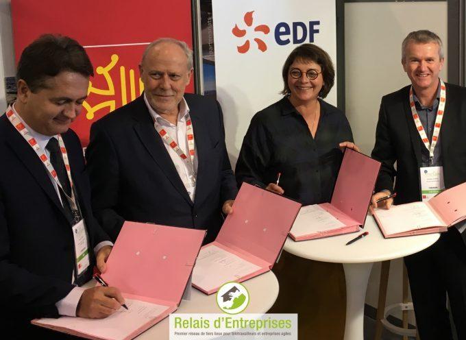La Région Occitanie, EDF et Relais d'entreprises, s'engagent pour le développement des tiers-lieux