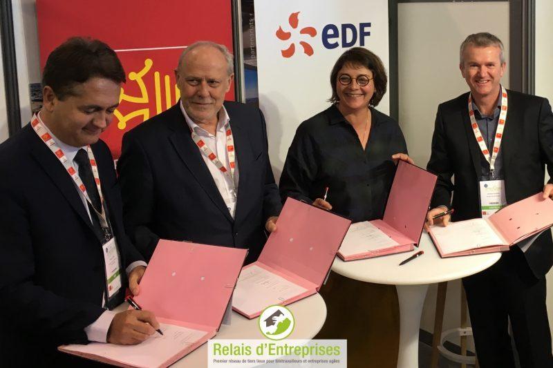 G à D: Thierry Cotelle, Gilles Capy, Agnès Langevin, Dominique Valentin