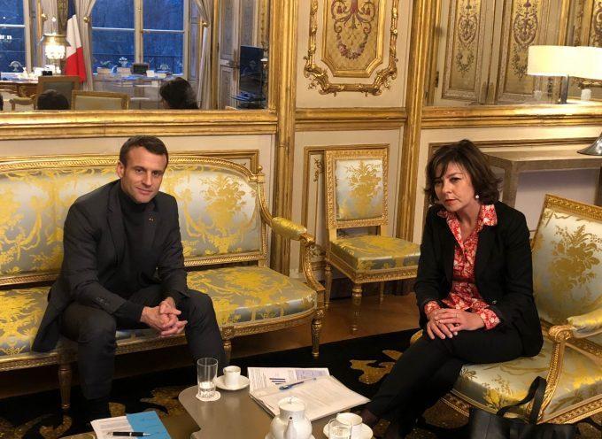 Carole Delga rencontre le président de la République à l'Elysée.