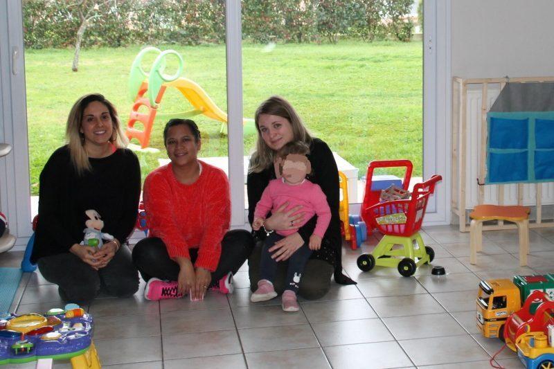 De gauche à droite, Pauline, Christidie et Laurie accueilleront vos bambins.