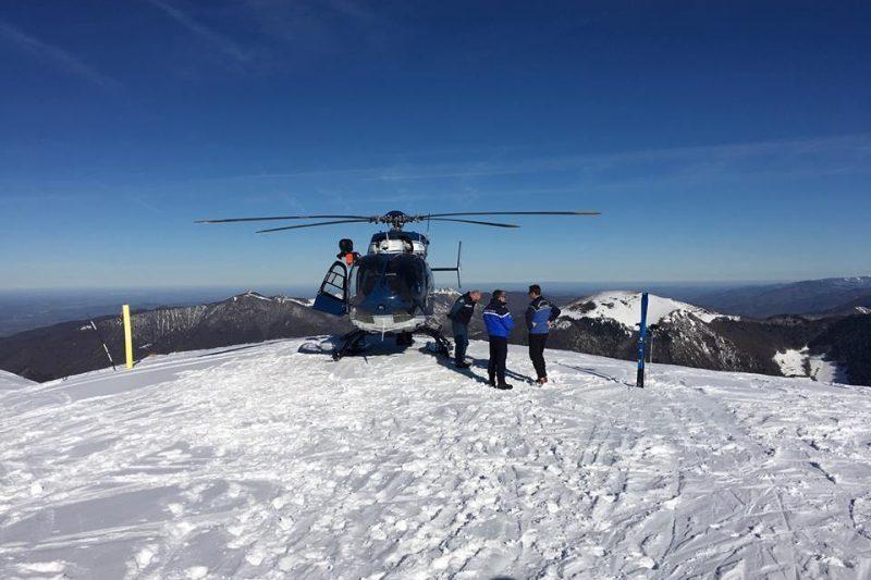 l'hélicoptère à disposition des exercices'hélicoptère le moyen de transport le plus sûr pour les secours en montagne