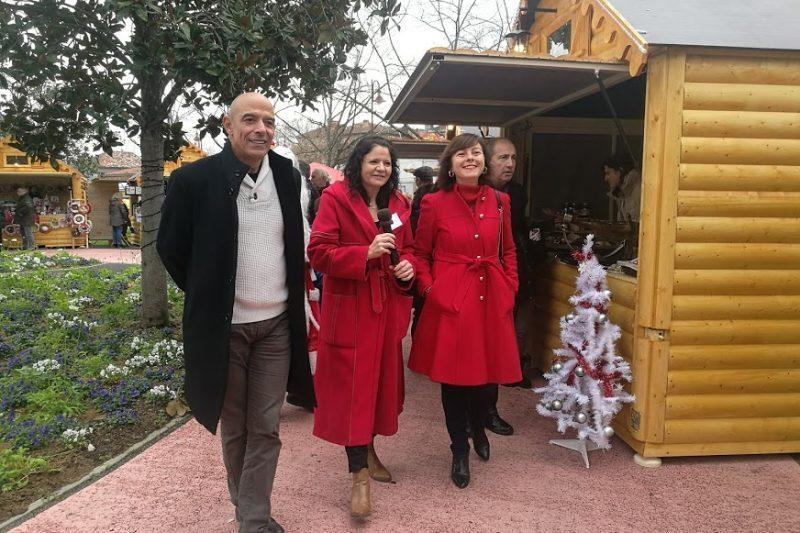 La présidente de région Carole Delga Inaugure le marché de Noël