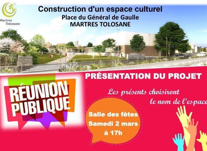 Martres-Tolosane : Projet construction de l'espace culturel