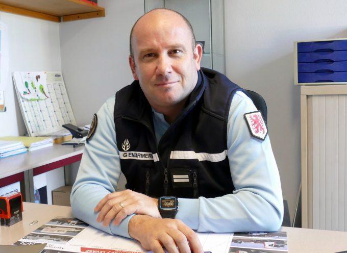 Le Lieutenant Arnaud Vanin à la tête de la COB de Carbonne