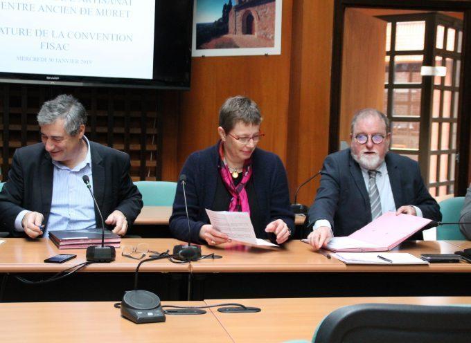 Signature de la convention FISAC à Muret