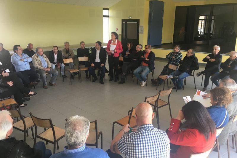 Lors de l'intervention de Marie Caroline Tempesta conseillère régionale