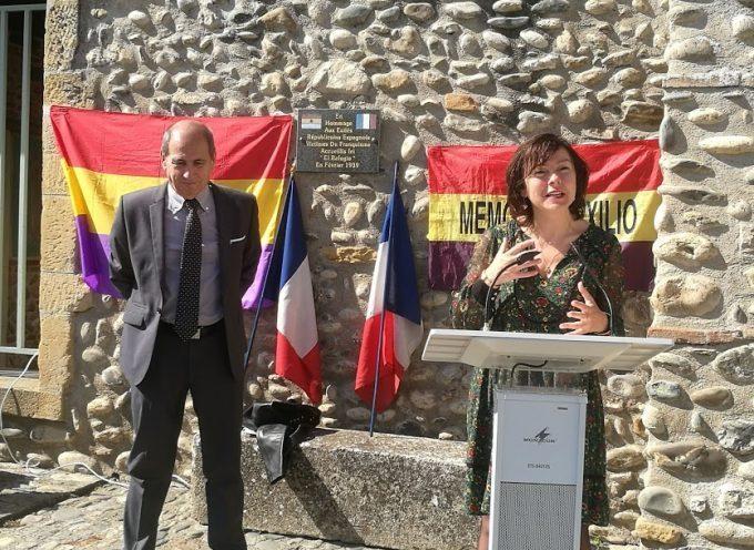Carole Delga et Michel Oliva rendent hommage aux exilés de la Retirada