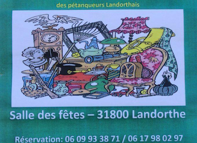 Landorthe : Vide-grenier des Pétanqueurs Landorthais