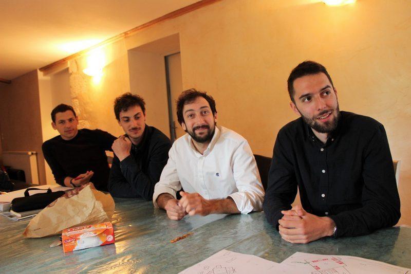 Les quatre designers de la prestigieuse école Boulle à Blajan