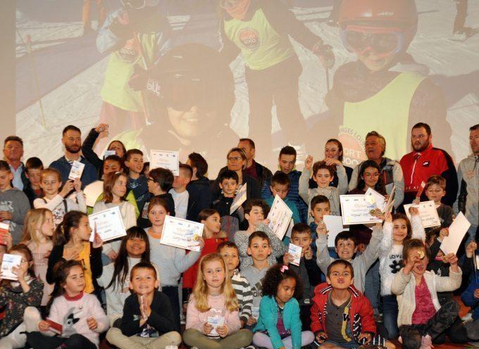 Montréjeau : Les jeunes skieurs médaillés et diplômés
