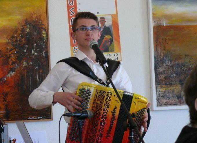 Mathieu Guilbert, jeune espoir de l'accordéon