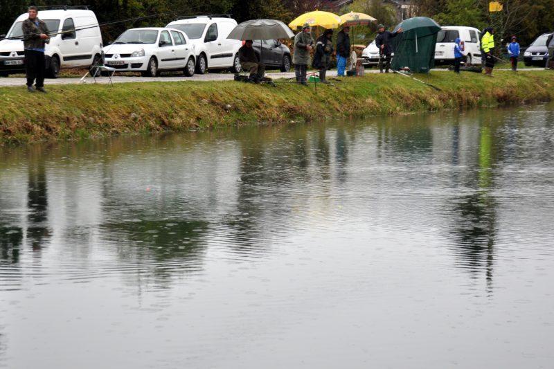 Pluie sur le lac