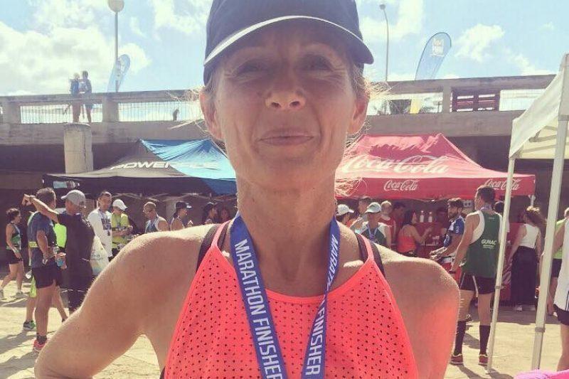 La Commingeoise Marie Lise Razat a participé au marathon de Paris sous les couleurs des Restos du Coeur