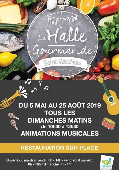 Halle Gourmande concerts du dimanche