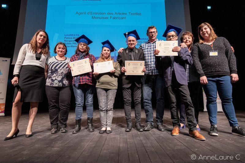 Lauréats de Rieux avec MaryseVézat
