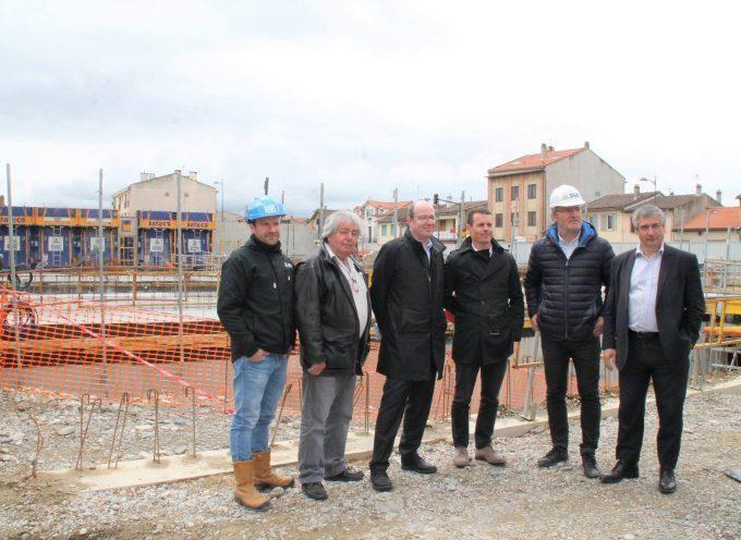 Visite du chantier de reconstruction de Gasc-Moisand