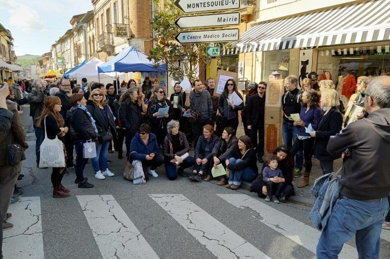 Sit-in au marché