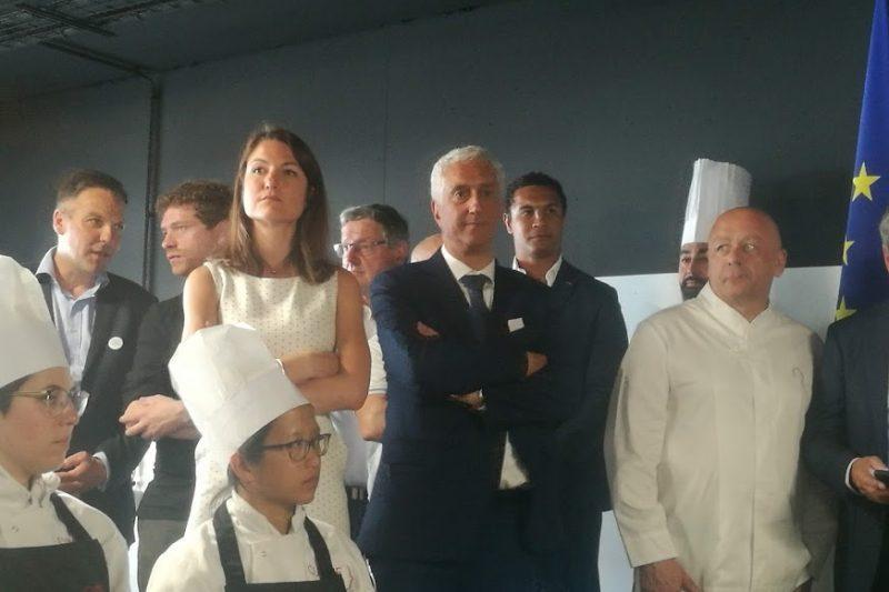 Maguelone Pontier (directrice du MIN de Toulouse), Stéphane Layani (président de Rungis) et le chef Thierry Marx