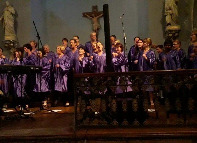 La chorale Comming' Gospel en concert à la Basilique Saint-Just de Valcabrère