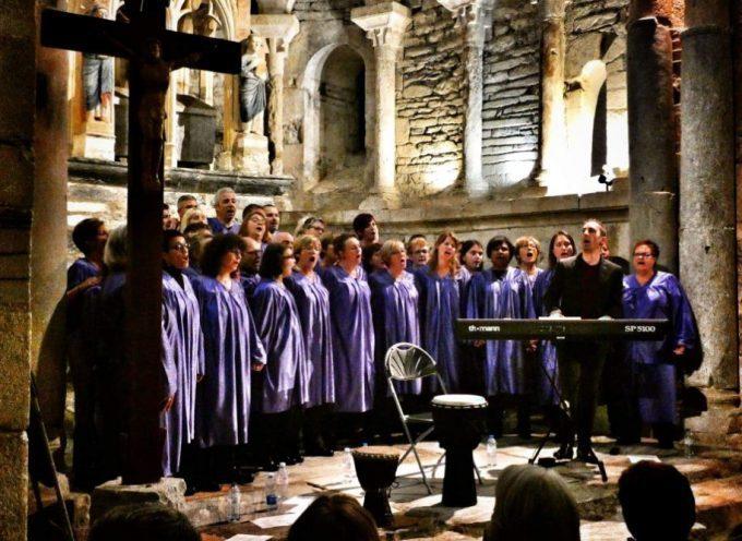 Comming Gospel magnifique concert a capella à la Basilique St Just de Valcabrère