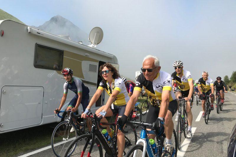 Lors du dernier tour de France. Carole Delga dans le tourmalet