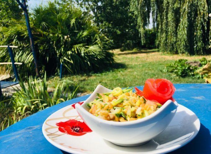 Recette : Salade rafraîchissante au petit épeautre par Maïté Galindo