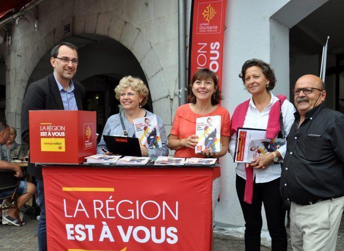 Montréjeau : Le marché pour Carole Delga