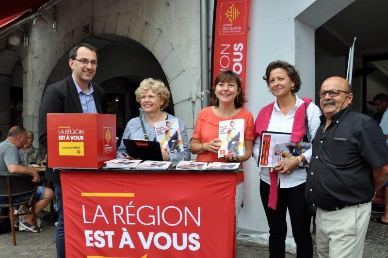 De G à D : Débastien Denard, Dominique Dader, Carole Delga, Marie-Caroline Tempesta et Eric Miquel
