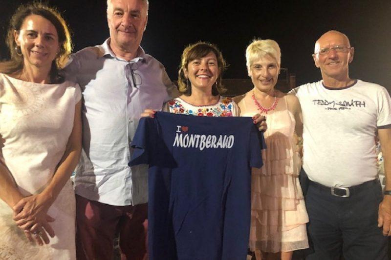Carole Delga et le maire Raymond Denjean