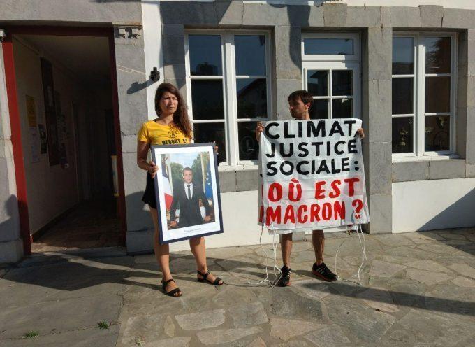 A la veille du G7, un nouveau portrait d'Emmanuel Macron décroché en plein Pays basque